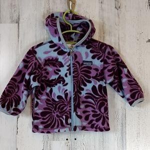 Patagonia zip up hooded fleece.